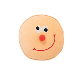 [ABODE] SMILEY KIDS VELVET NOVELTY CUSHION